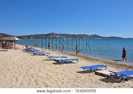 Schinias Sandy Beach, Marathon, Greece