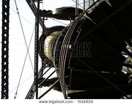 Black Metal Water Tower