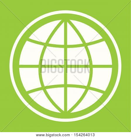 Pictograph of globe - Eco Green Globe Sign - Eco Planet Mordern Abstract With Leaf For Logo, Banners, Templates, Internet Web Sites - Flat Icon Vector Illustration  Stock EPS