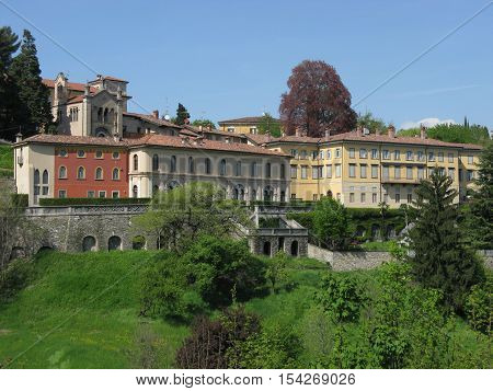 The view of Bergamo in summer, Italy