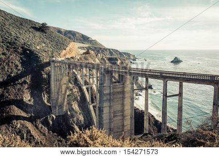 Big sur bridge on the way to San francisco