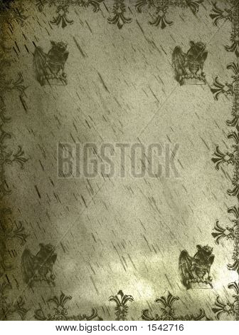 Medieval Griffin Background Grunge Page