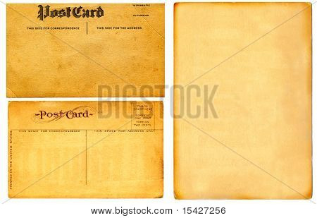 Vintage Real Postcards From Early 1900s And Blank Cardboard