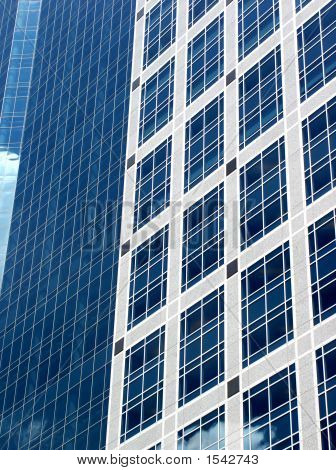 High Quality Abstract Image Of Blue Office Building