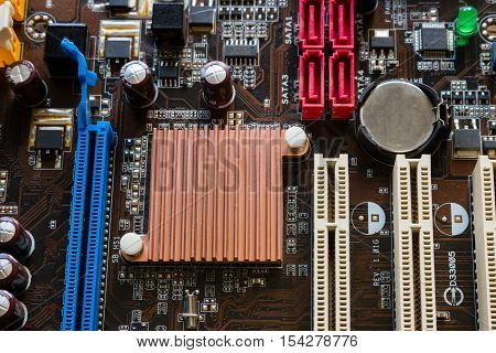 background of computer chip close up, motherboard