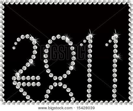 Vector Diamonds 2011 New Year