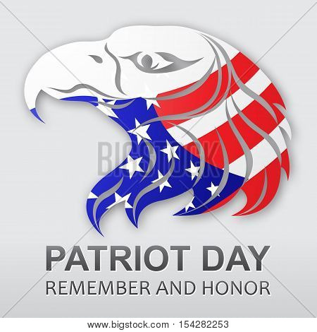 Patriot Day vector background. American flag. Stock vector illustration for your design