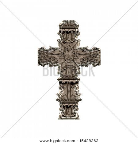 Metal Cross Design Isolated On White