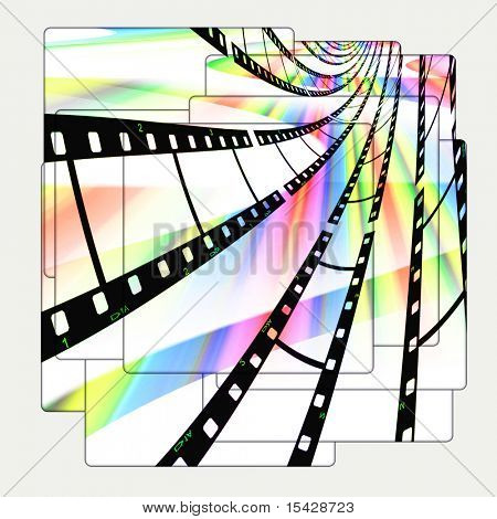 Film Strips On Pictures Abstract Design