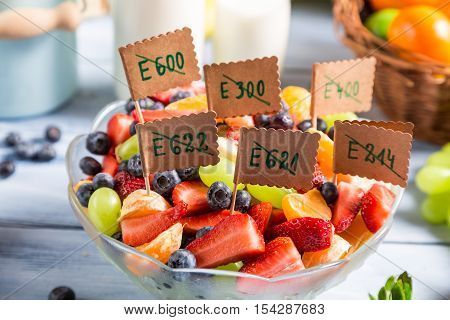 Closeup Of Fresh Fruit Salad With No Preservatives