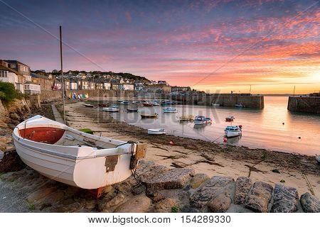 Sunrise Over Fishing Boats At Mousehole