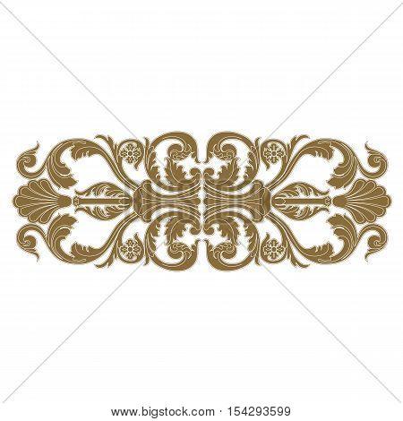 Golden ornament,  vintage ornament, baroque ornament,  scroll ornament, engraving ornament, floral ornament, retro pattern, antique pattern, foliage pattern, swirl pattern, decorative pattern, filigree pattern, vector.