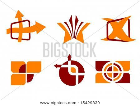 Vector version. Set of color symbols isolated on white. Jpeg version also available