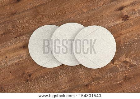 White Round Coasters