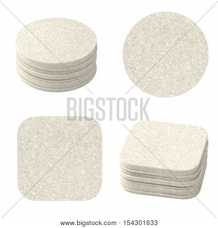 Set Of White Bear Coasters