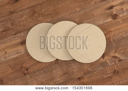Cardboard Round Coasters.