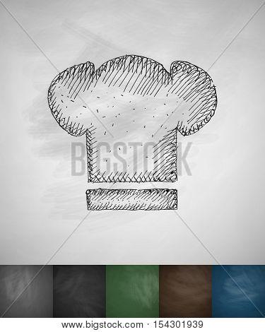 toques icon. Hand drawn vector illustration. Chalkboard Design