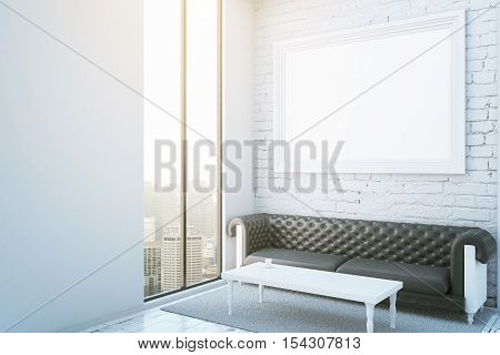 Room With Frame, Couch And City View