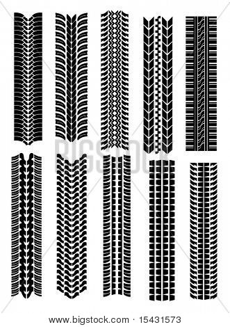 Jpeg version. Set of tire shapes isolated on white for design. Vector version is also available