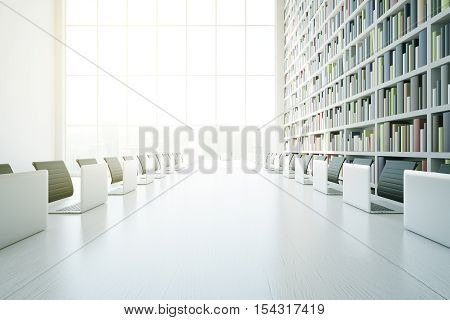 White Library Table Closeup