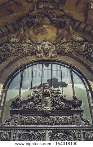 Ornamental Frontispiece Detail