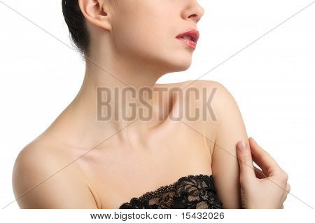 Headshot Of Topless Young Woman