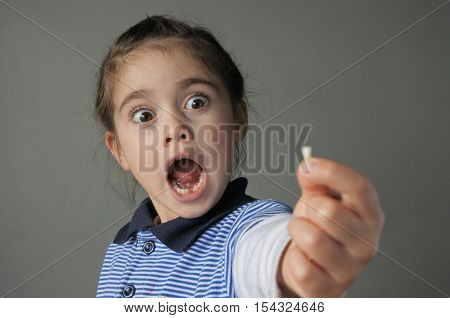 Young Girl Surprise To Find That She Have Lost Her First Milk Teeth