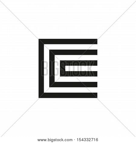 Unusual geometric letter C. Architecture vector logo. Isolated monogram