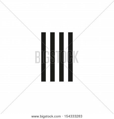 Unusual geometric letter I. Architecture vector logo. Isolated monogram