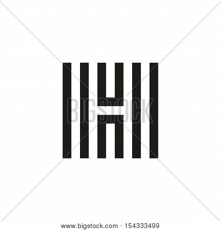 Unusual geometric letter H. Architecture vector logo. Isolated monogram