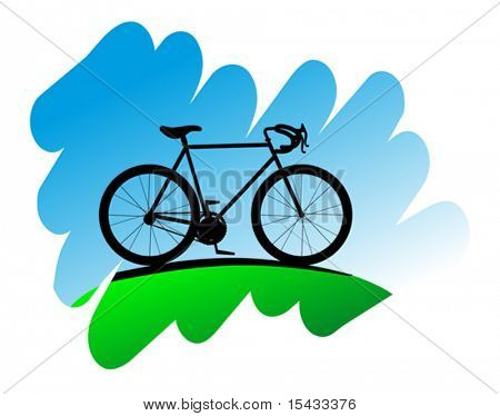 Cycling symbol on white background for design. Jpeg version also available in gallery