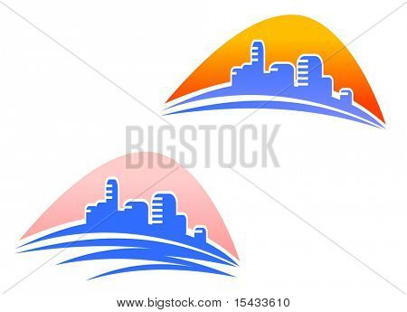 Cityscape symbols. Vector version also available