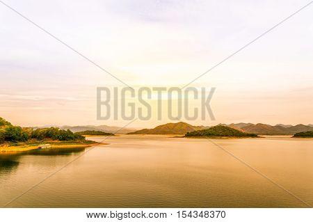 Lake view at Kaeng Krachan National Park Thailand