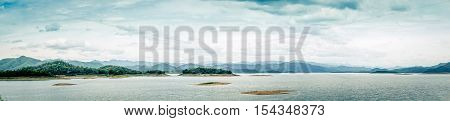 panoramic lake view at Kaeng Krachan National Park Thailand