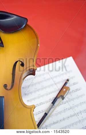 Violin On Red