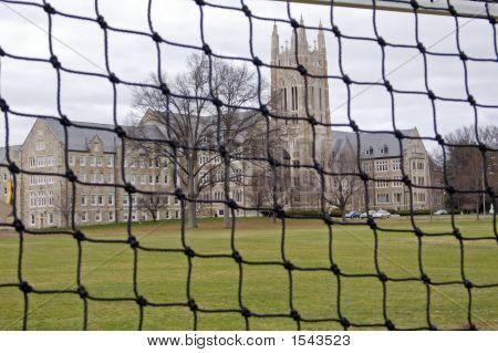 Soccer Net At A Seminary