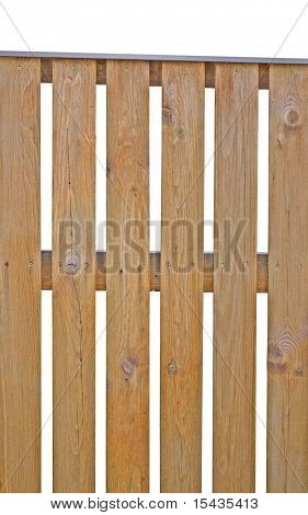 Wooden Picket Fence Brown Natural Isolated Vertical Closeup