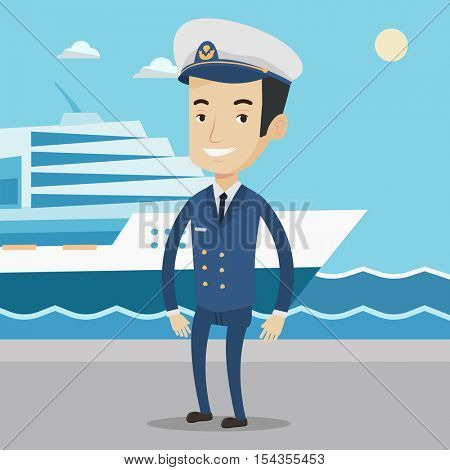 Caucasian Captain On Background Vector Photo Bigstock - How to be a cruise ship captain