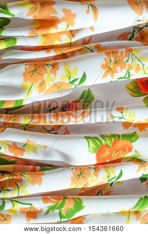 Cotton Fabric Texture Flowers. Fabric Baptiste. Batiste, Cambric, Lawn