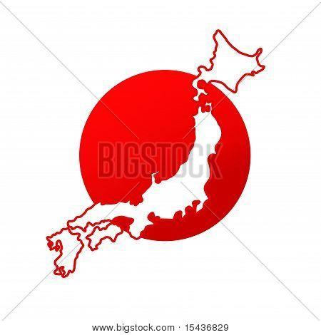 Abstract Japan map