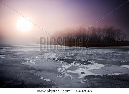 Birght winter landscape