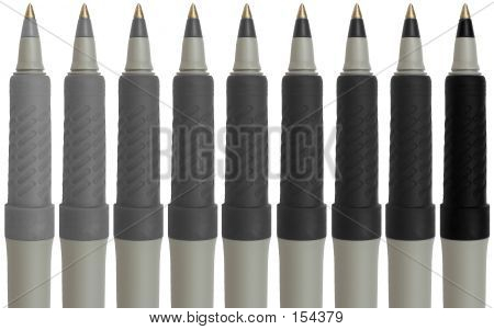 9 Grayscale Pens