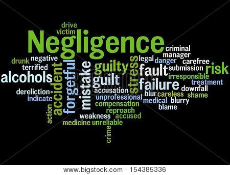 Negligence, Word Cloud Concept 5
