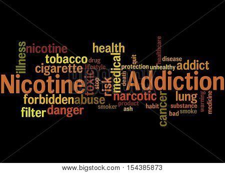 Nicotine Addiction, Word Cloud Concept 3