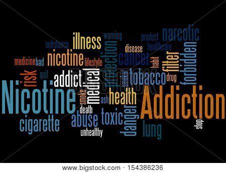Nicotine Addiction, Word Cloud Concept 6