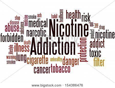 Nicotine Addiction, Word Cloud Concept 8