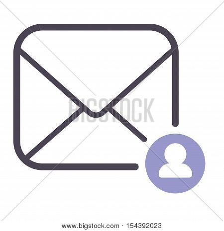Envelope mail icon. Web communication mail icon address business correspondence interface.