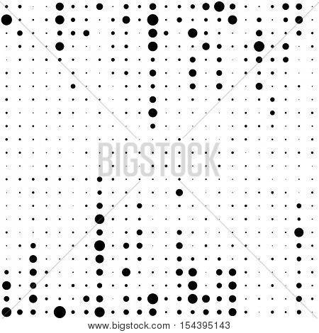 Seamless Stripe Pattern. Vector Monochrome Chaotic Dots Background. Fine Print Texture