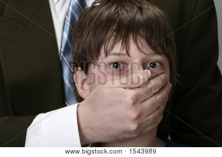 Boy With Face Covered