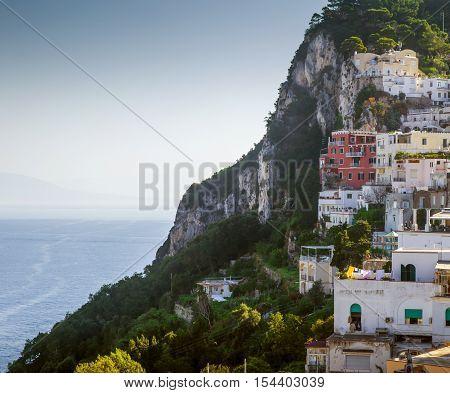 Capri town on Capri Island in Campania Italy